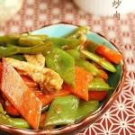 龙豆炒肉(荤素搭配)