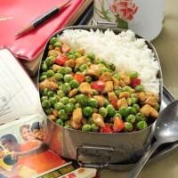 肉粒炒豌豆