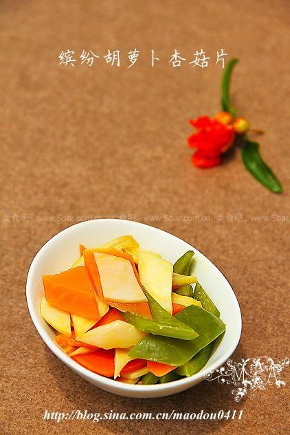 胡萝卜杏菇片