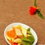 胡萝卜杏菇片(素菜)