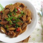 蚝油扒杏鲍菇(素菜)