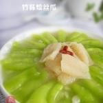 竹荪烩丝瓜(素菜)