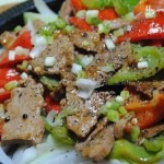 黑胡椒铁板牛肉(荤菜)