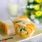 双色鸡蛋煎饼(早餐菜谱)