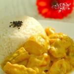 微波爐咖喱土豆雞飯(葷菜-微波爐菜譜)