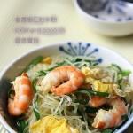 韭香虾仁炒米粉(早餐菜谱)