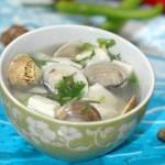豆腐蛤蜊汤(鲜掉眉毛的快手汤)