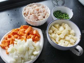 时蔬咖喱鸡