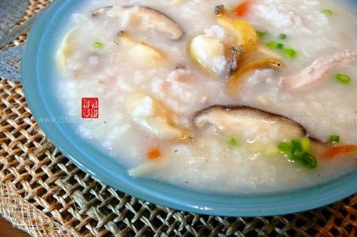 早餐鸭肉粥(菜谱柿子)鲍鱼和鸡丝汤一起吃吗图片