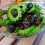 黑油橄榄炒苦瓜(素菜)