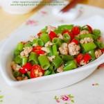 肉末腐乳空心菜(荤素搭配)