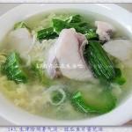 胜瓜鱼片蛋花汤(荤菜-生津除烦暑气消)