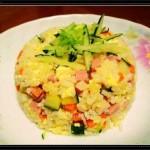 火腿蛋炒饭(早餐菜谱)