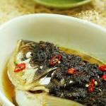 榄豉酱蒸鱼头(荤菜-清蒸菜)