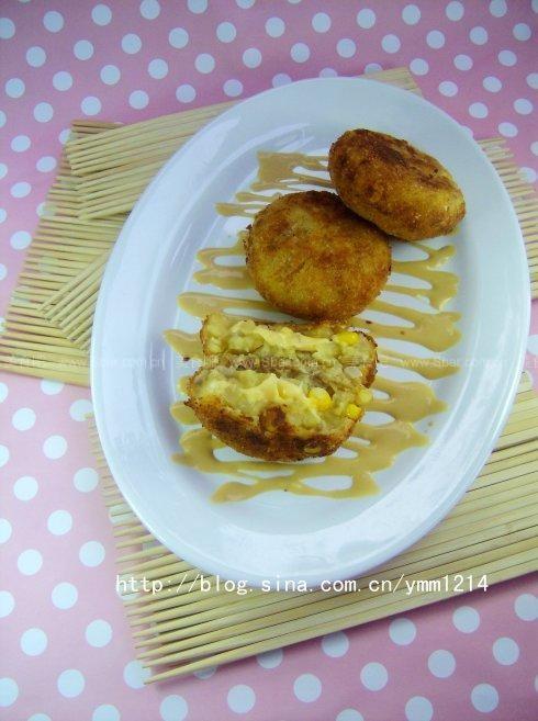 槐花饼子怎么做_日式夹心可乐饼的做法【图解】_日式夹心可乐饼的家常做法_日式 ...