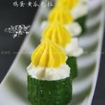 鸡蛋黄瓜色拉 (白煮蛋变身靓丽宴客菜)