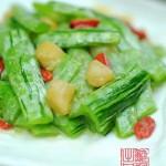 蛇瓜烩干贝(素菜)