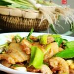 生爆盐煎肉(荤菜)