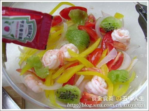 油醋汁蝦仁蔬果沙拉