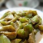 鸡汤烩丝瓜(素菜)
