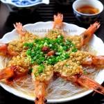 蒜蓉粉丝蒸虾(新手必学的宴客菜)