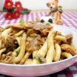 姬菇炒肉片(葷素搭配)