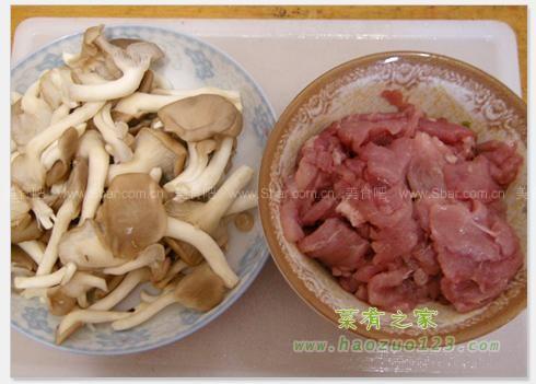姬菇炒肉片