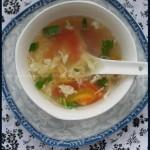 西红柿蛋花儿汤(素菜)