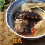 鸡汁浸海参(海鲜家常菜-干海参如何处理和发制)