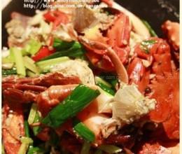 蒜段炒石蟹