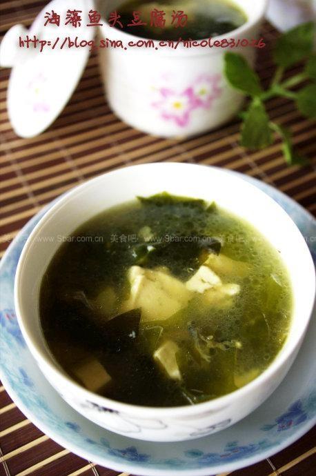 海藻鱼头豆腐汤