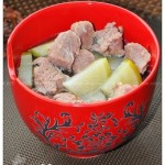 青萝卜炖羊肉(荤菜)