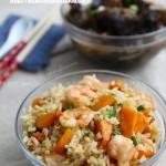 橄榄油南瓜鲜虾炒饭(早餐菜谱)