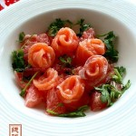 西柚鲑鱼花(海鲜家常菜)