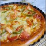 鮮蝦披薩(早餐菜譜)