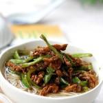 青椒肉丝面(早餐菜谱)
