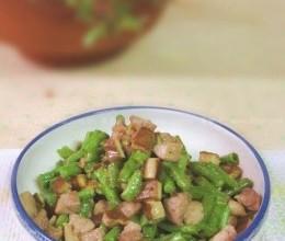 肉丁香干炒长豆
