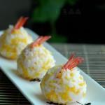 凤尾虾寿司饭团(早餐菜谱)