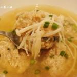 香菜金针菇丸子汤(荤菜)