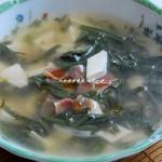 莼菜豆腐羹(素菜)