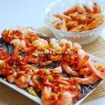 蕨根酸辣虾(海鲜家常菜)