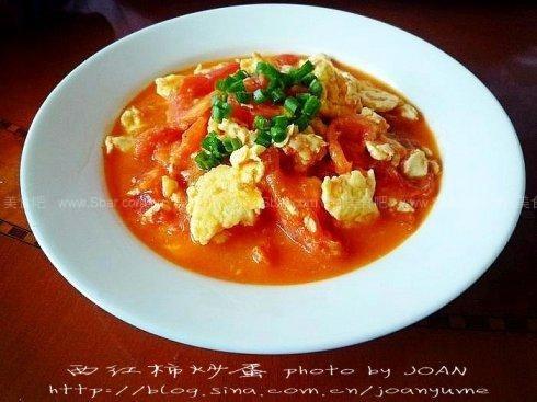 西红柿炒蛋(素菜)的做法步骤