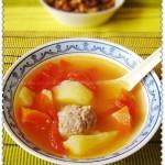 雜菜肉丸湯(葷素搭配)