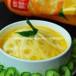 橙汁藕片(素菜)