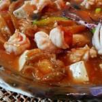 酸辣海鲜豆腐羹(海鲜家常菜谱)