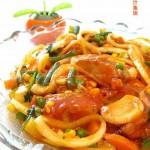 茄汁杂菜粒鱼块(荤菜)