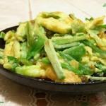 蒜苗炒蛋(荤菜)
