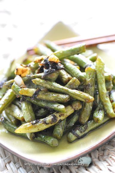 榄菜干煸豆角