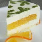 香橙豆腐慕斯蛋糕(甜品)