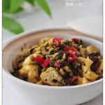 雪菜豆腐泡(素菜)